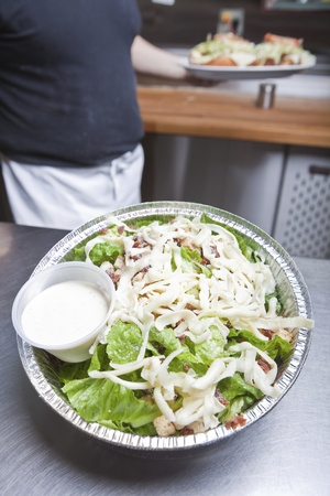take out: Take out caesar salad