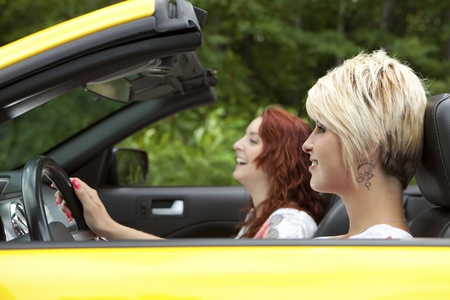 Young women going for a joy ride