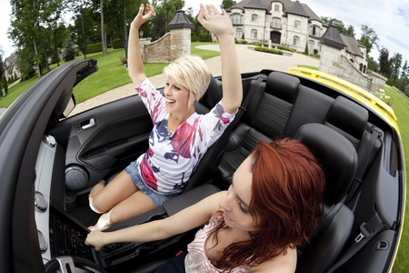 Young women going for a joy ride Stock Photo - 10536992