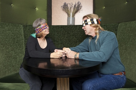 Blind date mature couple Stock Photo - 10537050