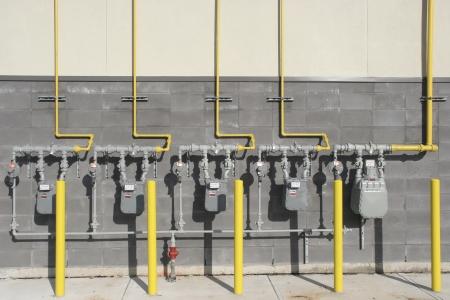 Meerdere commerciële gasmeters