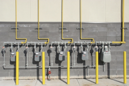 Multiple commercial Gas meters  photo
