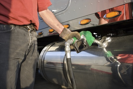 hand truck: Fueling Up a Freight Transport Truck