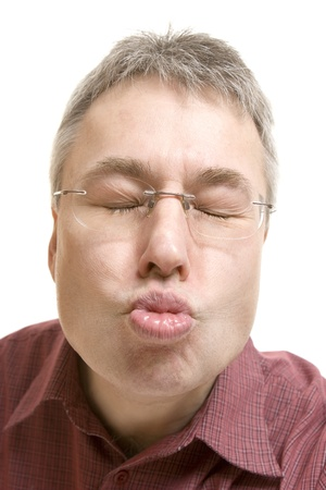 Man kiss portrait  photo