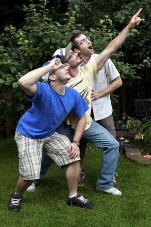 goofing: Brothers goofing around