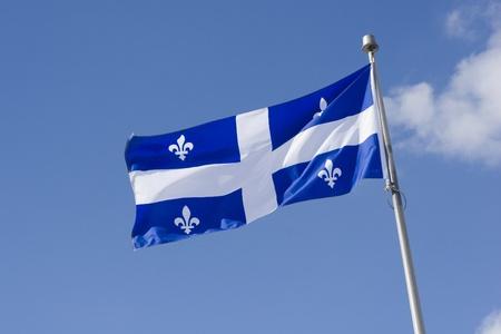 Quebec Flag Reklamní fotografie