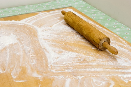 Grandma preparing baking and serving her cheesepuff recipe (series of images)  photo
