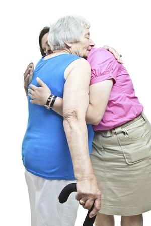 community outreach: Hugging a senior