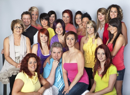 organized group: Team of hairdressers