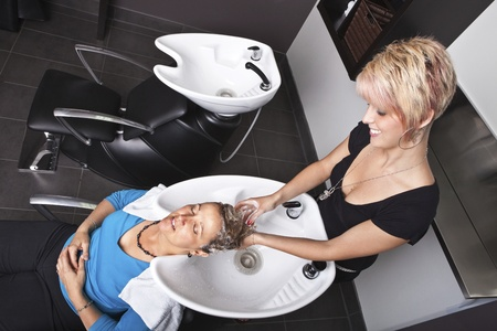 Shampoo at the beauty salon Stock Photo - 10574033