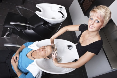 Shampoo at the beauty salon  photo