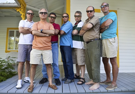 guard house: Group of serious men