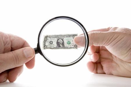 Inflation shrinking value of US dollar photo