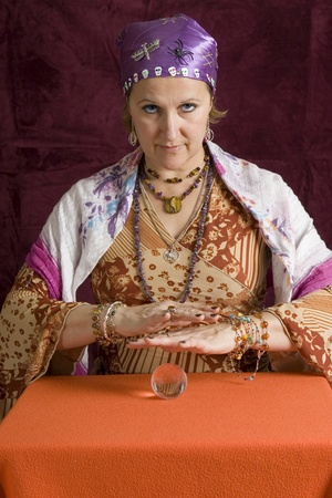 Cheesy fortune teller Stock Photo