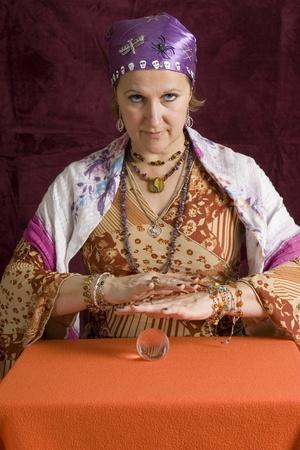 zigeunerin: Cheesy Wahrsagerin Lizenzfreie Bilder