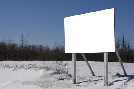 Winter billboard field photo
