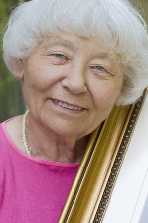 active adult community: Senior woman Art lady