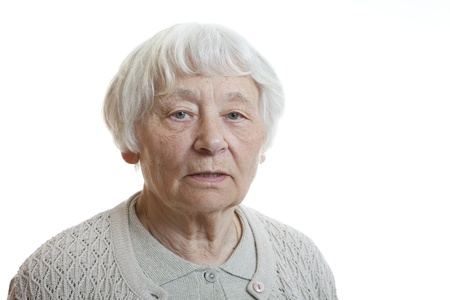 Senior woman studio portrait serious Stock Photo - 11133593