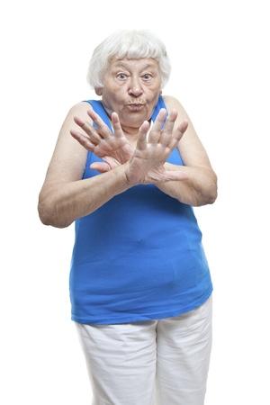 Enough Already senior woman portrait  Reklamní fotografie
