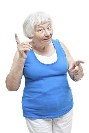 mujeres mayores: Recordando retrato mujer mayor Foto de archivo