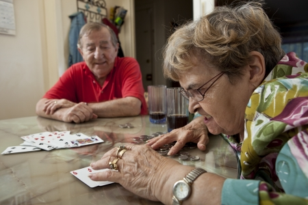 Seniors playing cards  photo