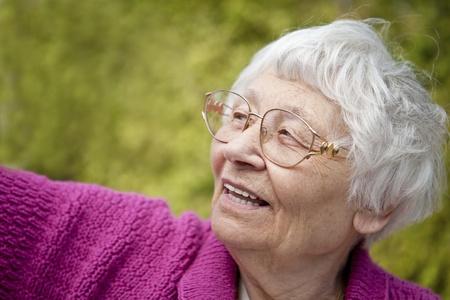 Happy outdoor senior woman portrait  Stock Photo - 11134062