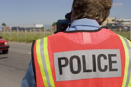 patrolman: Radar speed trap