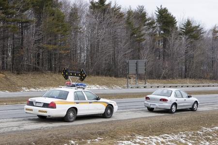 Speeder fermato dalla polizia
