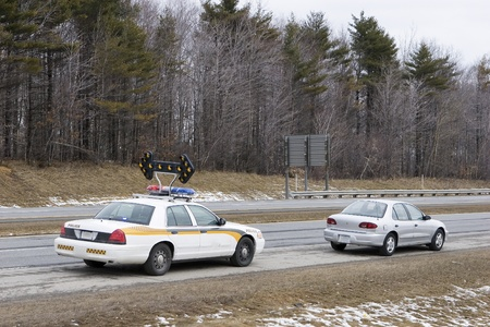 Speeder pulled over by police  photo