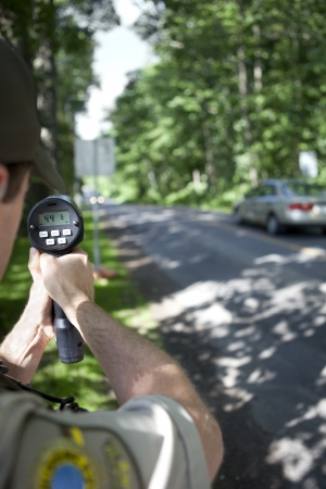 enforcing the law: Radar speed trap