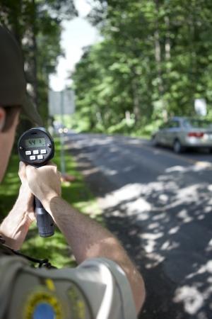 speeding: Radar speed trap