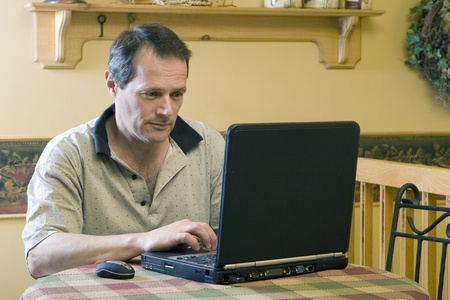 telecommuter: Businessman working from home