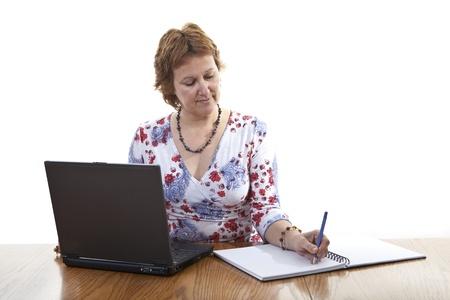 taking notes: Businesswoman taking notes