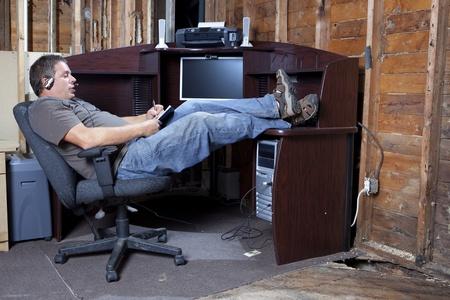 Recessie begroting kantoorruimte Stockfoto