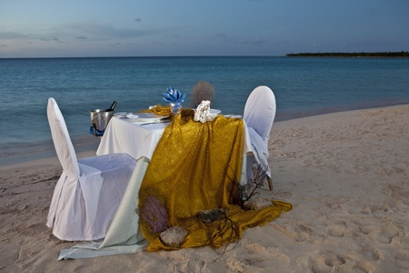 Romantic Dinner for Two at the Beach Stock Photo - 11677198