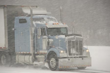 driving conditions: Semi-Truck winter driving