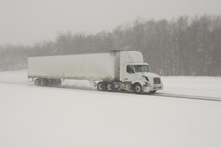 Semi-Truck winter driving