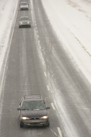Winter driving  photo