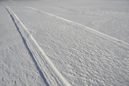 tire tracks: tire tracks in snow
