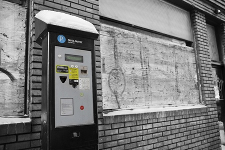 Parking Meter Pay Station - Unintended Consequenses Concept  photo