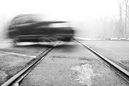 rail cross: Railroad Crossing