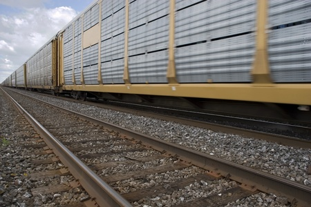 goods train: Freight train  Stock Photo