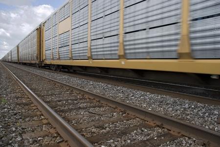 buen vivir: Tren de carga Foto de archivo