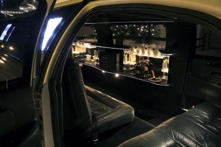 chauffeur: Your limo is waiting (interior)  Stock Photo