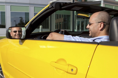 Businessman in a car Stock Photo - 11676925