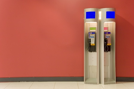 Two telephone booths  photo