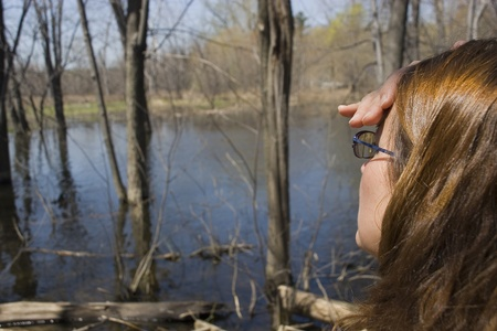 Woman on nature trail  photo