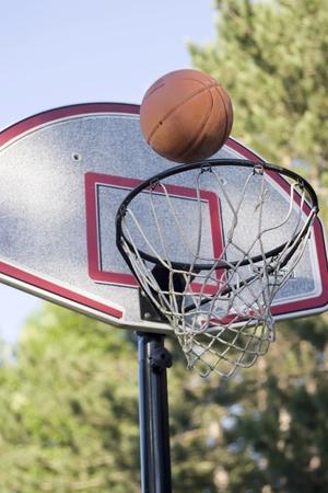 backboard: Basketball and backboard