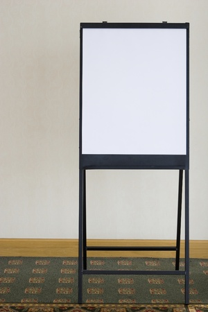 White board flip chart for business meetings  photo
