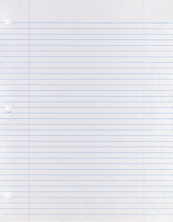 lined: Sheet of looseleaf paper  Stock Photo